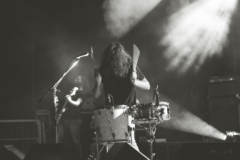 Aimone Romizi alle percussioni