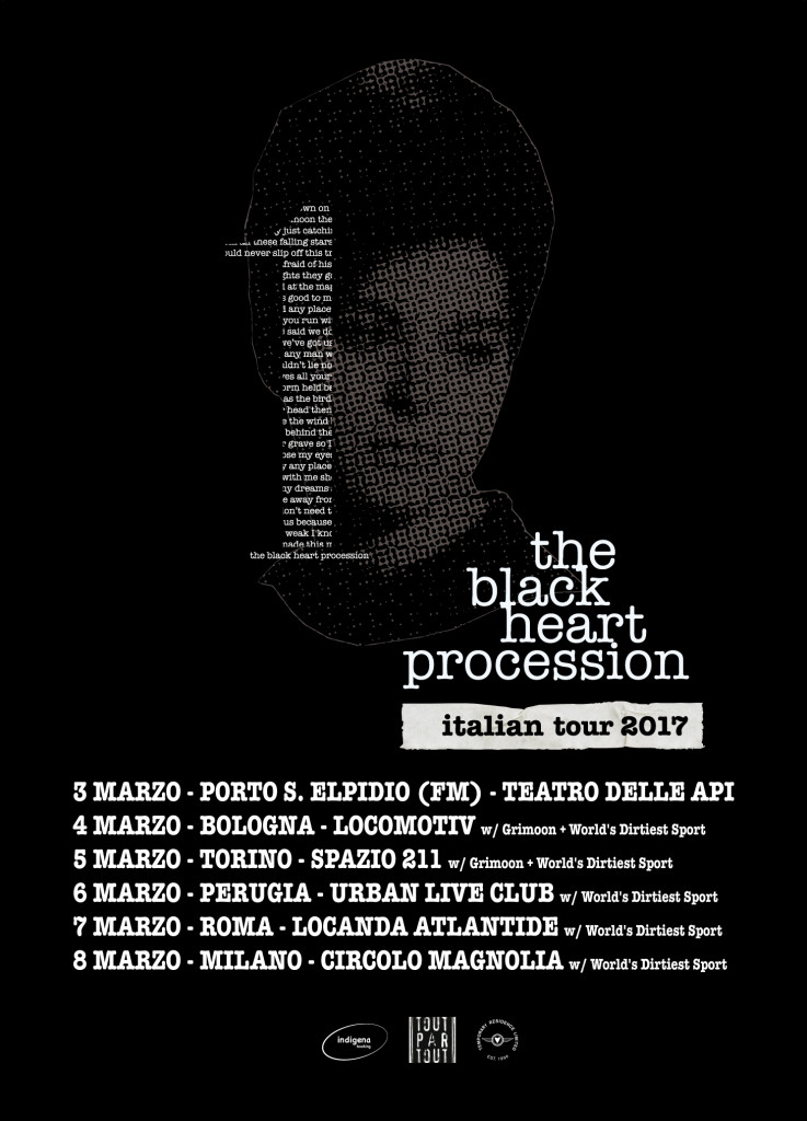The-Black-Heart-Procession-Italian-tour-poster