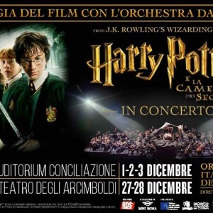 EVENTI: HARRY POTTER E LA CAMERA DEI SEGRETI IN CONCERTO A ROMA E MILANO