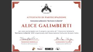 Alice Galimberti Scrivere è Libertà
